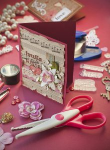 Making Valentine's greeting cards